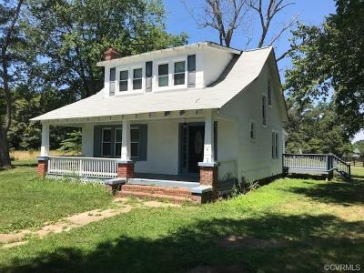 Powhatan County, Amelia County Single Family Home For Sale: 3409 Maidens Road