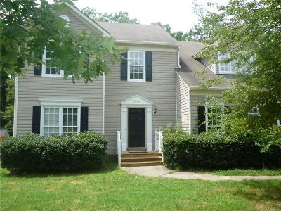 Henrico County Rental For Rent: 9504 Hungary Woods Drive