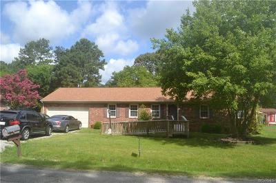 Colonial Heights, Hopewell, Prince George Single Family Home For Sale: 10916 Beaver Castle Road
