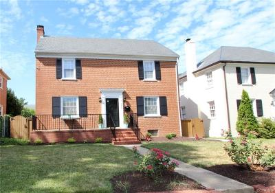 Richmond Single Family Home For Sale: 3805 Monument Avenue