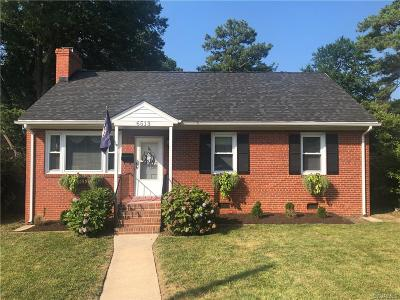 Richmond VA Single Family Home For Sale: $290,000