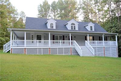 Powhatan County, Amelia County Single Family Home For Sale: 4317 Cosby Road
