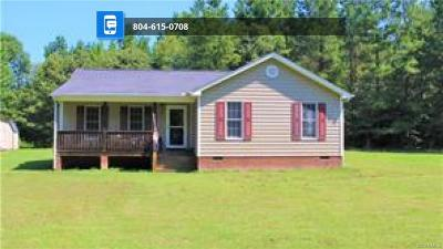 King William Single Family Home For Sale: 1798 Green Level Road
