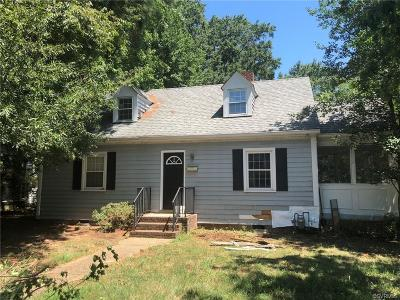 Richmond VA Single Family Home For Sale: $145,000