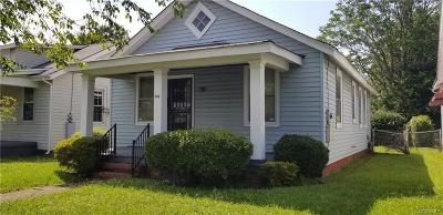 Richmond VA Single Family Home For Sale: $75,000