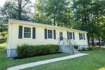 Chesterfield VA Single Family Home For Sale: $169,000