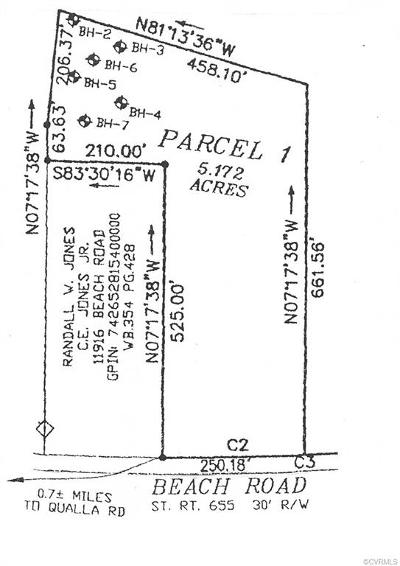 Chesterfield Land For Sale: 11910 Beach Road