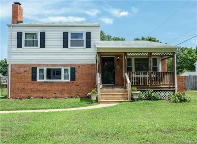Chesterfield VA Single Family Home For Sale: $187,500