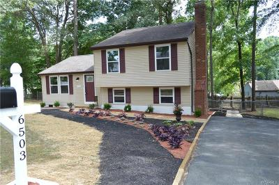 Chesterfield VA Single Family Home For Sale: $199,950