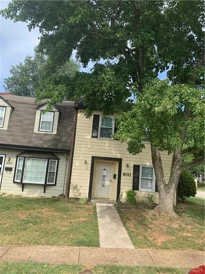 Chesterfield VA Condo/Townhouse For Sale: $95,000