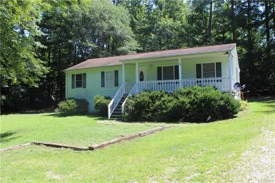 Dinwiddie Single Family Home For Sale: 3941 Lee Boulevard