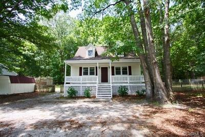 Dinwiddie Single Family Home For Sale: 11328 Cedar Run Road
