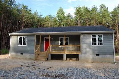 Powhatan County Single Family Home For Sale: 800 Clementown Road