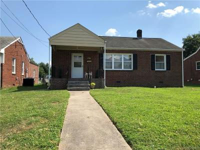 Colonial Heights VA Single Family Home For Sale: $136,000