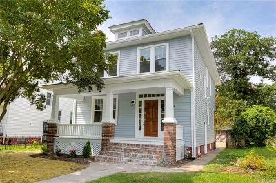 Richmond Single Family Home For Sale: 2706 Northumberland Avenue