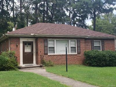 Petersburg Single Family Home For Sale: 911 Northampton Road