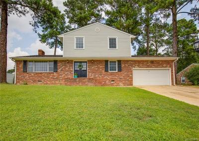 Colonial Heights VA Single Family Home For Sale: $240,000