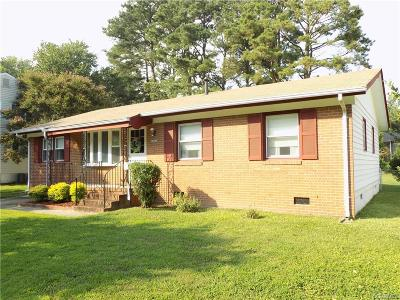 Colonial Heights VA Single Family Home For Sale: $154,900