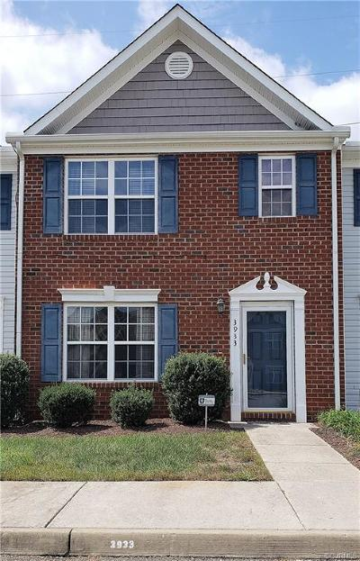 Hopewell Condo/Townhouse For Sale: 3933 Eagle Drive