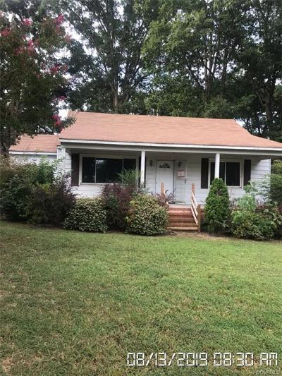 Dinwiddie Single Family Home For Sale: 25417 Ferndale Road