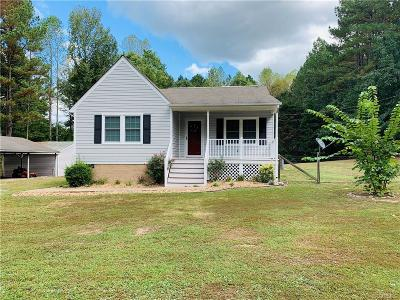 Dinwiddie Single Family Home For Sale: 10149 Courthouse Road