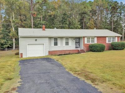 Dinwiddie Single Family Home For Sale: 25800 Tanglewood Drive