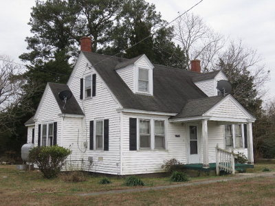 Northampton County, Accomack County Single Family Home Under Contract/Continue To Sho: 23128 Front St