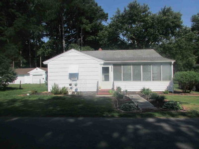 Exmore VA Single Family Home For Sale: $69,000