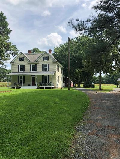 Northampton County, Accomack County Single Family Home For Sale: 28201 Locustville Rd