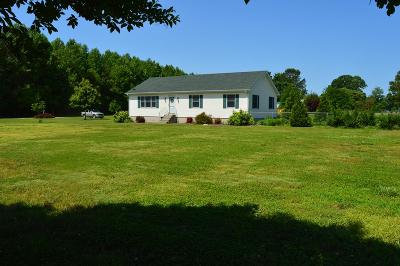 Northampton County, Accomack County Single Family Home Under Contract/Continue To Sho: 19127 Gray Horse Ln