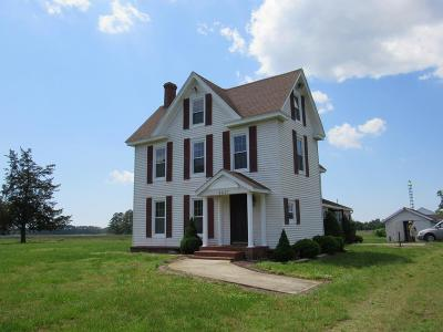 Northampton County, Accomack County Single Family Home For Sale: 4647 Miles Rd