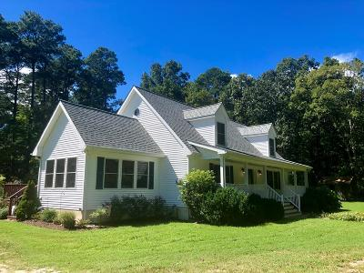 Northampton County, Accomack County Single Family Home Under Contract/Continue To Sho: 11078 Bayside Rd