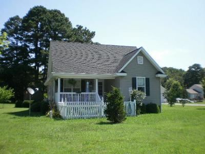Onancock, Onley, Melfa, Wachapreague, Harborton, Painter, Keller, Pungoteague Single Family Home Under Contract/Continue To Sho: 21090 Colonial Ave
