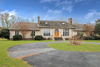 Accomack County, Northampton County Single Family Home For Sale: 27144 Gladding Rd
