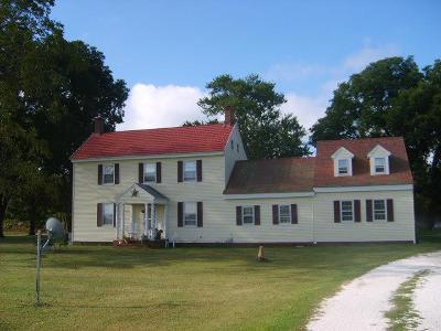 Accomack County, Northampton County Single Family Home For Sale: 17030 Coal Kiln Rd
