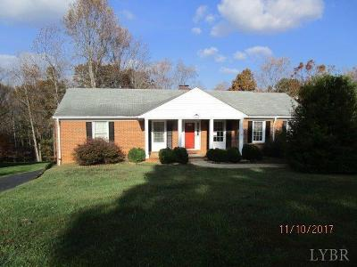 Lynchburg VA Single Family Home For Sale: $167,000