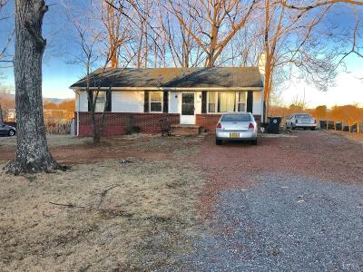 Bedford VA Single Family Home For Sale: $78,900