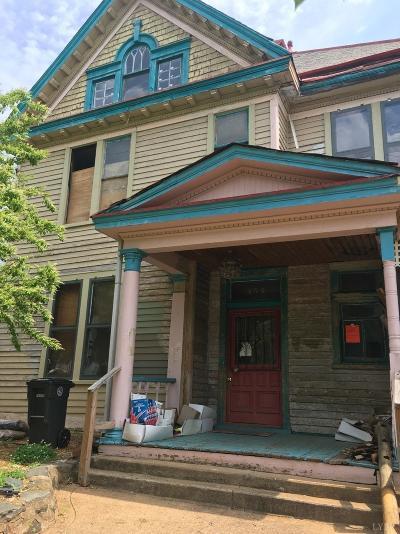Lynchburg County Single Family Home For Sale: 454 Victoria Avenue