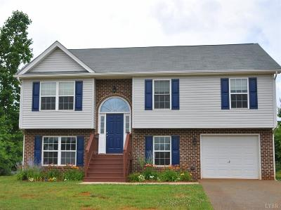 Rustburg Single Family Home For Sale: 297 Valley Drive