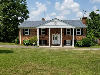 Evington, Rustburg, Lynchburg Single Family Home For Sale: 294 Poor House Road