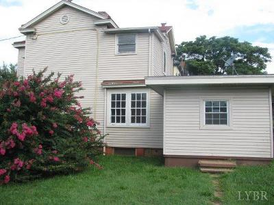 Lynchburg County Single Family Home For Sale: 1514 Fillmore Street