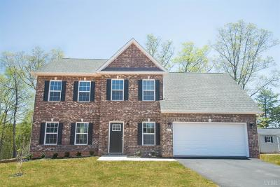 Evington, Rustburg, Lynchburg Single Family Home For Sale: 23 Carriage Parkway