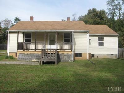 Rustburg Single Family Home For Sale: 64 Rosser Street