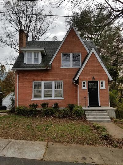 Lynchburg Single Family Home For Sale: 813 Graham St.