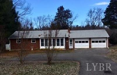 Bedford County Single Family Home For Sale: 2725 W Lynchburg Salem Turnpike