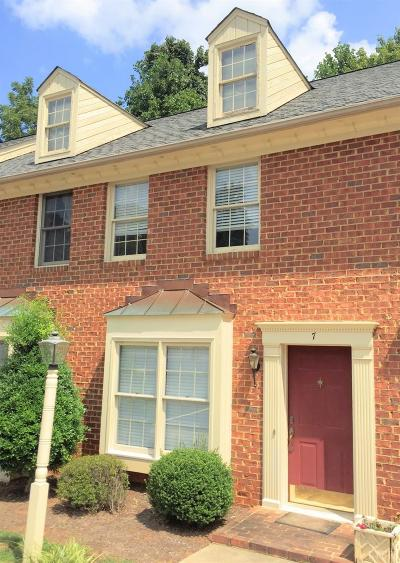 Lynchburg Condo/Townhouse For Sale: 100 Aaron Place #7