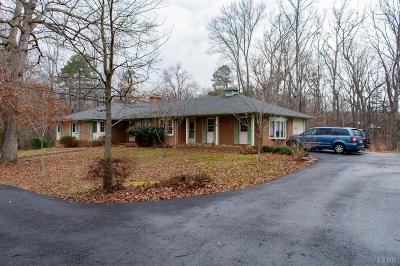 Rustburg Single Family Home For Sale: 821 Calohan Road