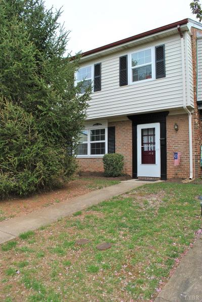 Lynchburg Condo/Townhouse For Sale: 110 E Cadbury Drive
