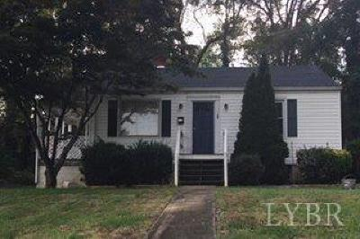 Lynchburg Single Family Home For Sale: 3304 Richmond Street
