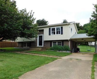 Altavista Single Family Home For Sale: 7163 Gladys Road